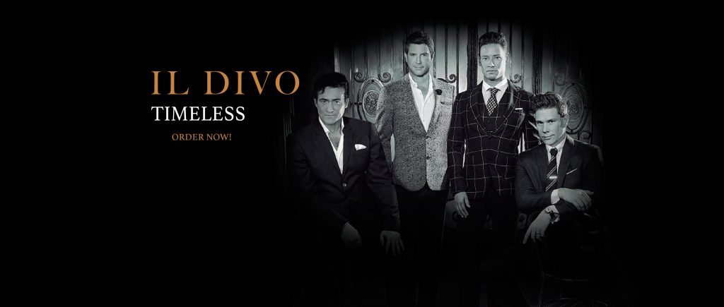 Il divo 39 s new album timeless now on sale il divo - Album il divo ...